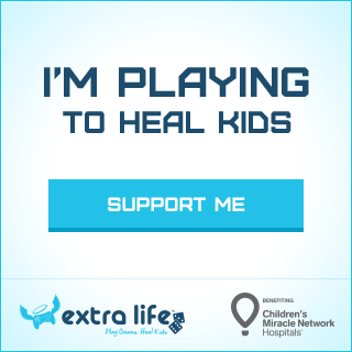 Extra Life support button